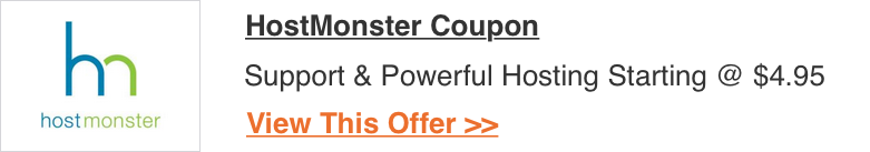 HostMonster Coupon