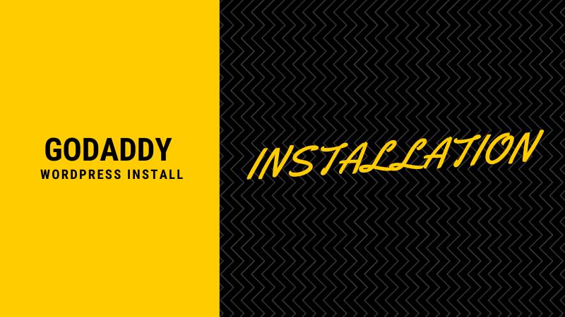 godaddy wordpress install