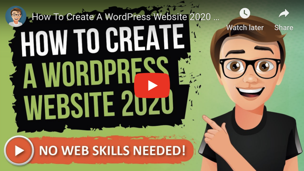 how to create a wordpress website 2020