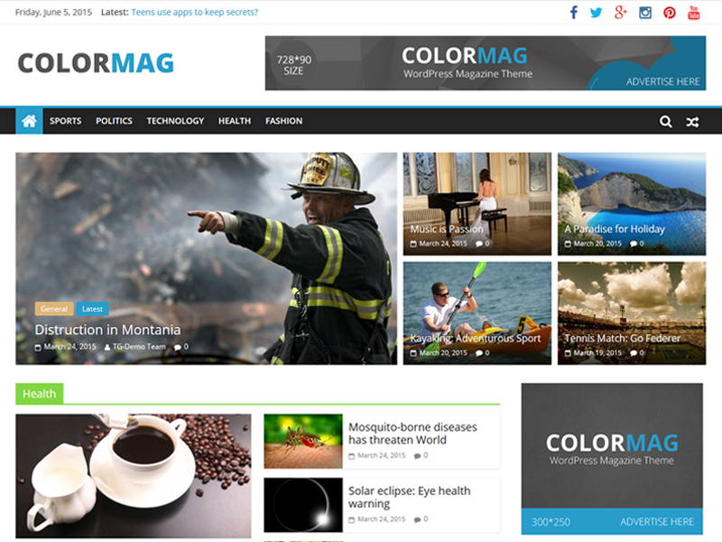 colormag wordpress theme 2020