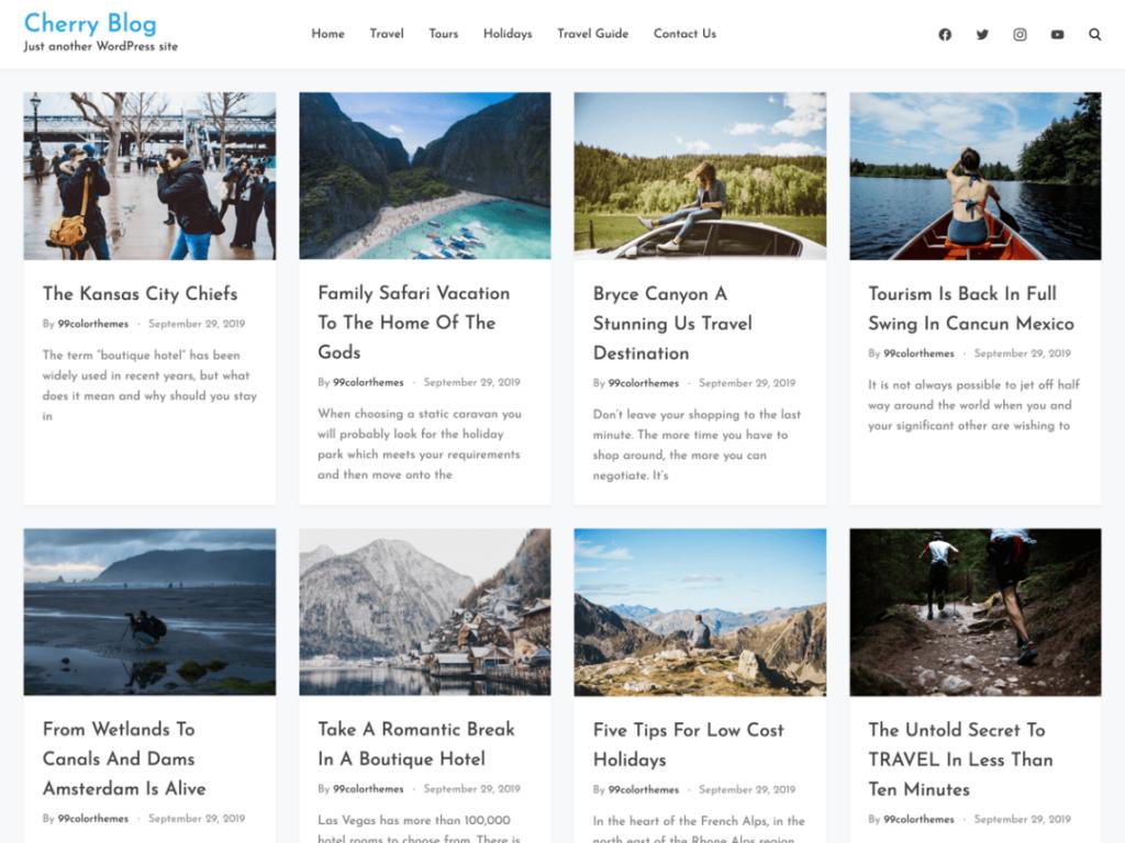 cherry blog wordpress theme 2020
