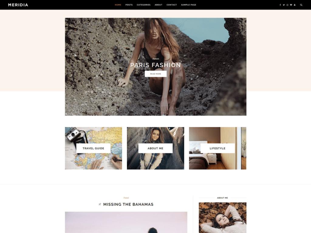 meridia wordpress theme 2020