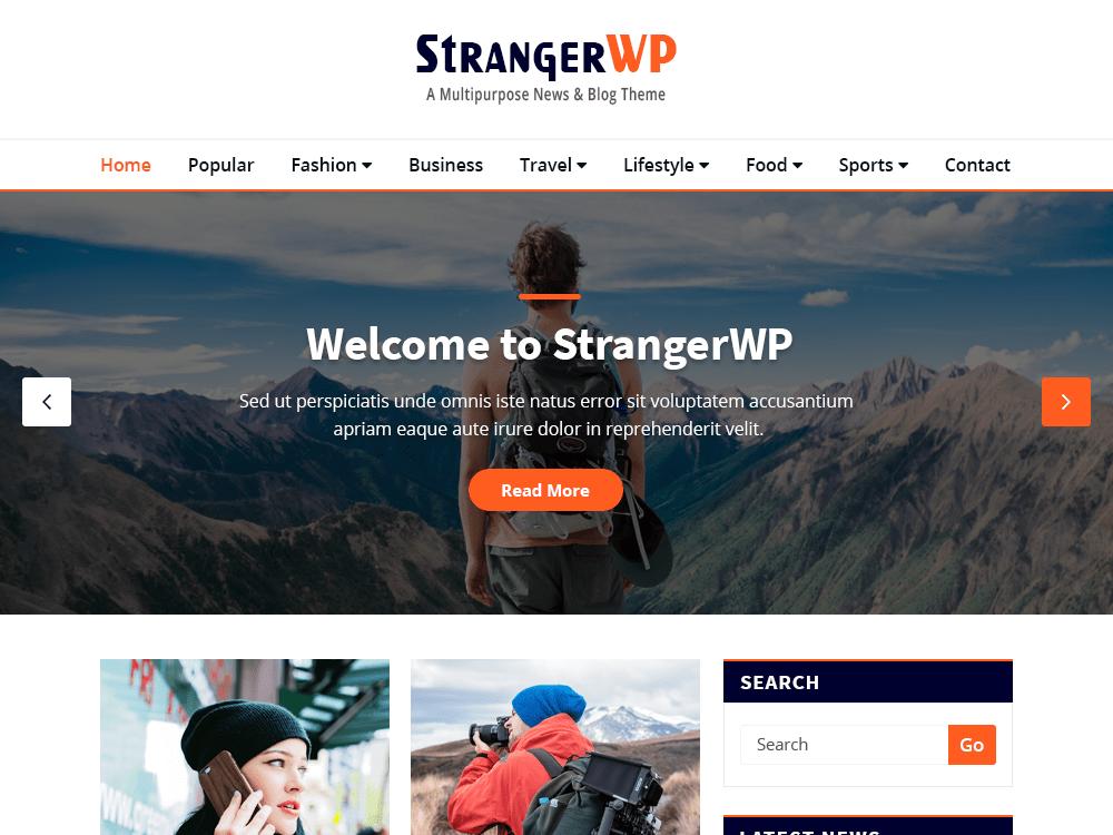 strangerwp wordpress theme 2020