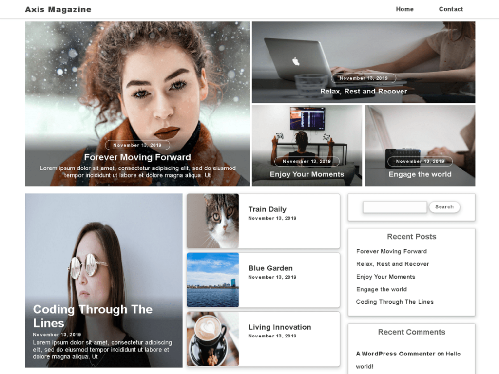 axis magazine wordpress theme 2020