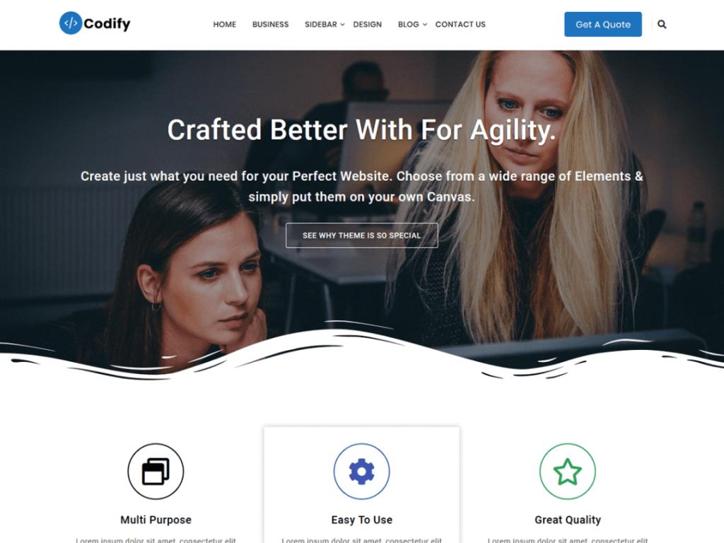 codify wordpress theme 2020