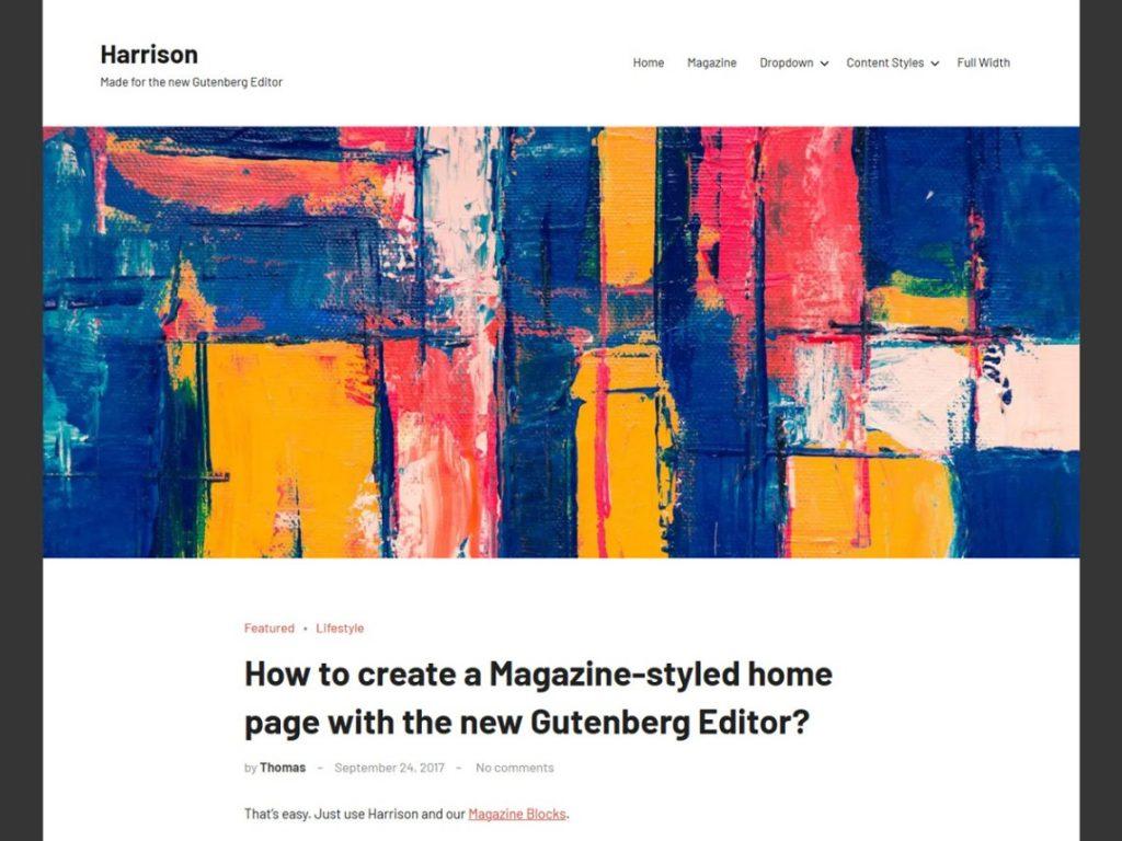 Harrison wordpress theme 2020