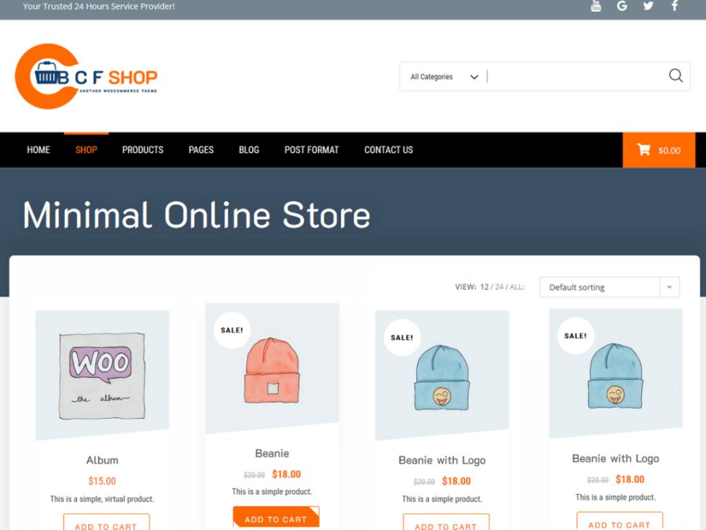 bcf shop wordpress theme 2020