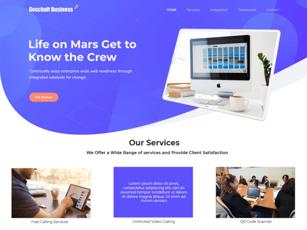 geschaft business wordpress theme 2020