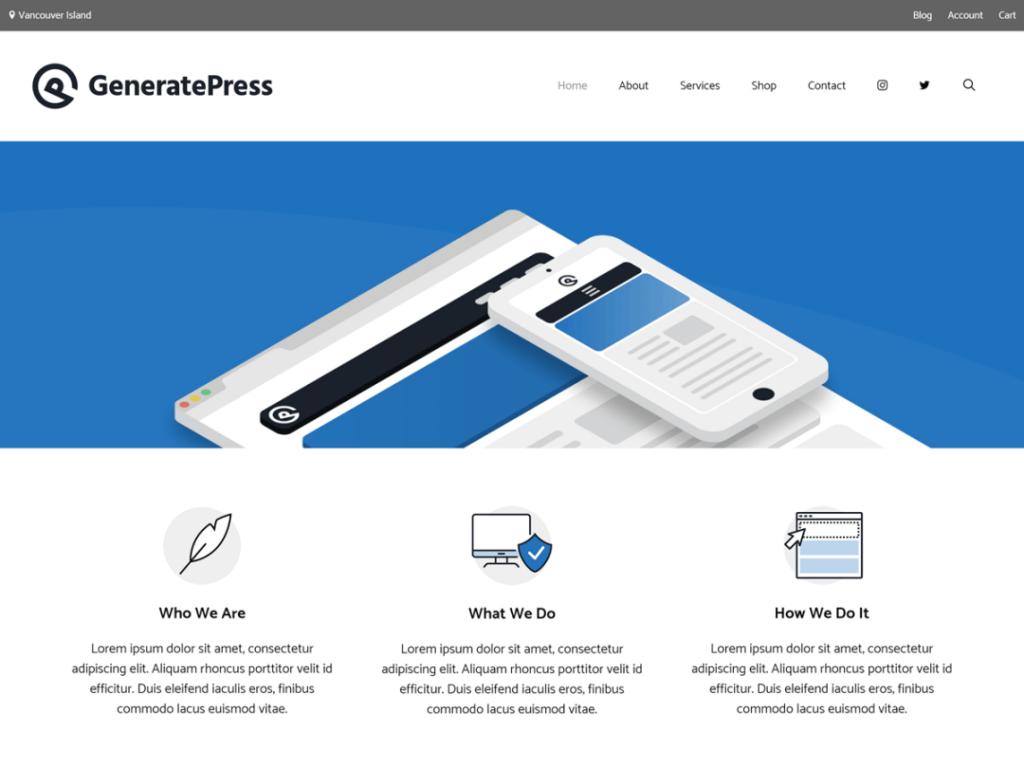 generatepress wordpress theme 2020