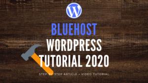 Bluehost WordPress tutorial featured image