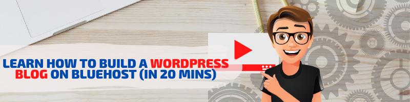 build a blog on wordpress video banner YouTube