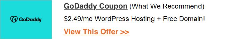 godaddy coupon